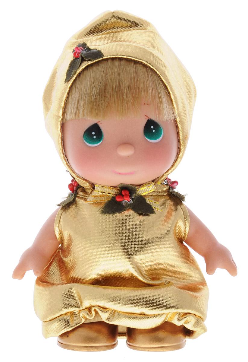 Precious Moments Мини-кукла Колокольчик5385Какие же милые эти куколки Precious Moments. Создатель этих очаровательных крошек настоящая волшебница - Линда Рик - оживила свои творения, каждая кукла обрела свой милый и неповторимый образ. Эти крошки могут сопровождать вас в чудесных странствиях и сделать каждый момент вашей жизни незабываемым! Мини-кукла Колокольчик одета в золотистое платье, по форме похожее на колокольчик. На милом личике куклы большие зеленые глаза. Благодаря играм с куклой, ваша малышка сможет развить фантазию и любознательность, овладеть навыками общения и научиться ответственности. Порадуйте свою принцессу таким прекрасным подарком!