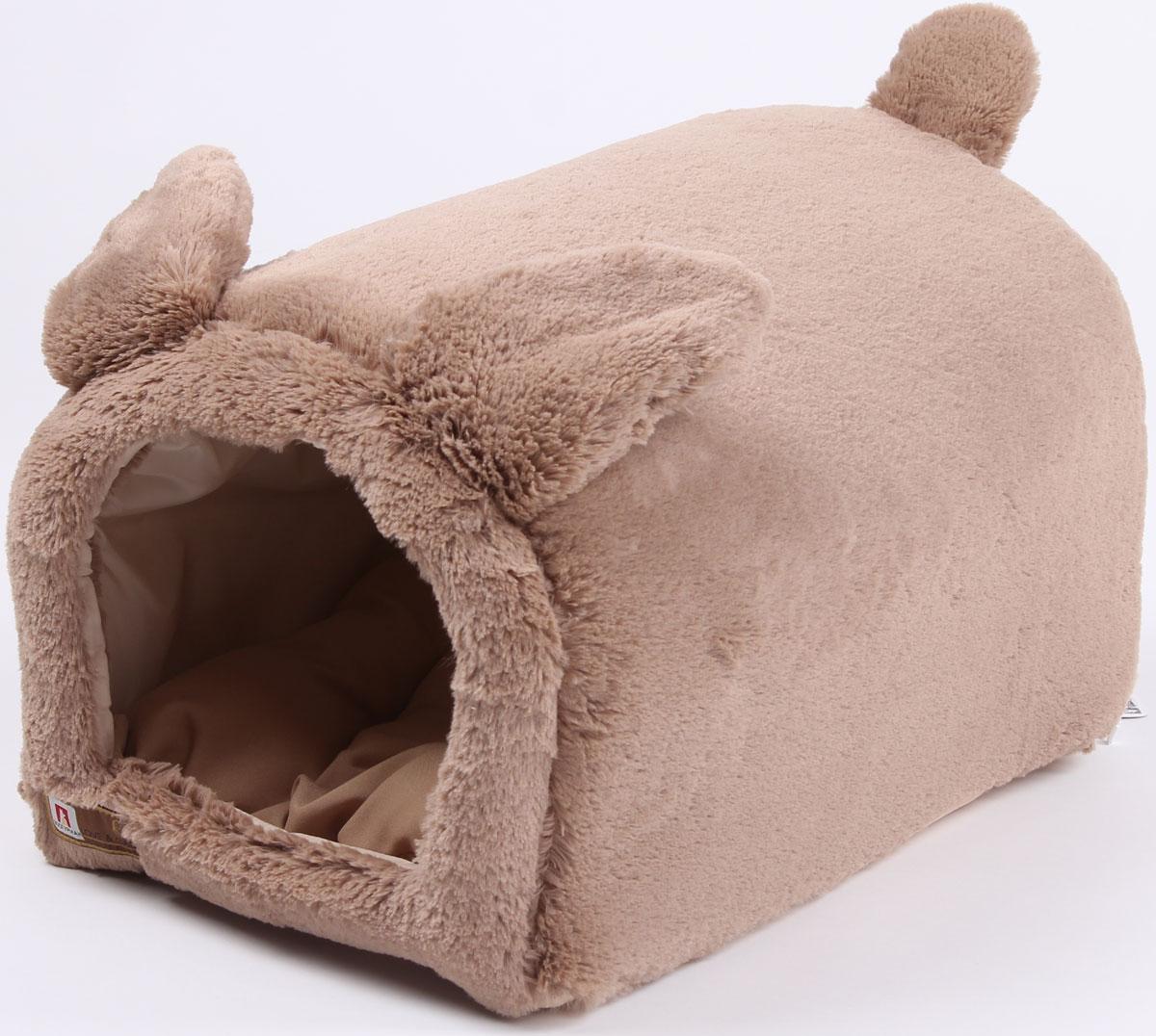 Домик для собак и кошек Taddy bear (50*35*30 см) размер М8832Материал: искуственная меховая ткань