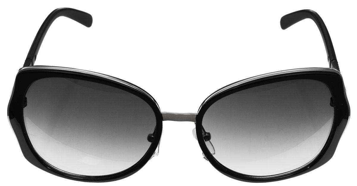 Очки солнцезащитные женские Baon, цвет: черный. B965003B965003Солнцезащитные очки Baon с линзами из высококачественного пластика, оправа оформлена элементами из металла. Используемый пластик не искажает изображение, не подвержен нагреванию и вредному воздействию солнечных лучей, защищает от бликов, повышает контрастность и четкость изображения, снижает усталость глаз и обеспечивает отличную видимость. Линзы имеют степень затемнения Cat. 2. Оправа очков легкая, прилегающей формы, дополнена носоупорами и поэтому не создает никакого дискомфорта. Такие очки защитят глаза от ультрафиолетовых лучей, подчеркнут вашу индивидуальность и сделают ваш образ завершенным.