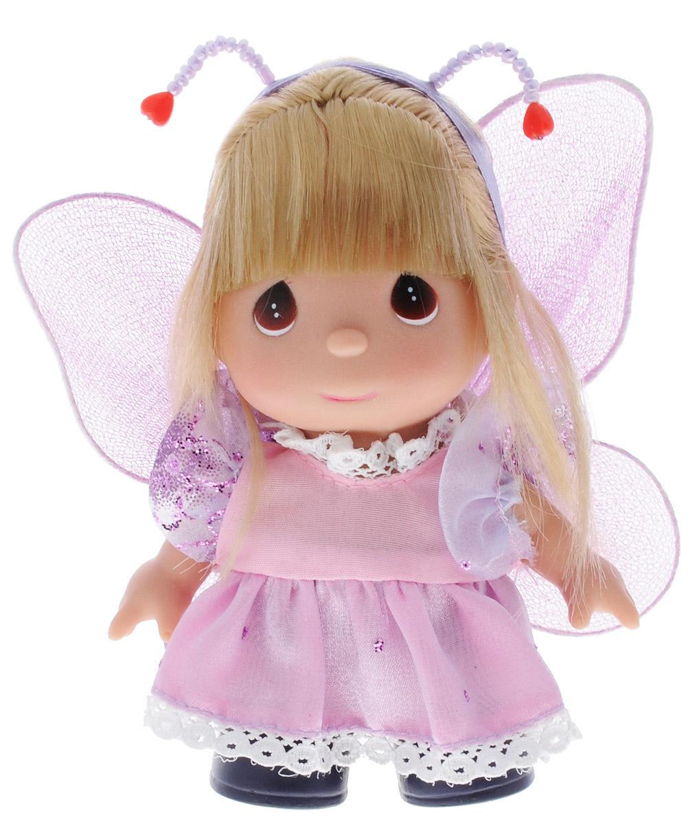 Precious Moments Мини-кукла Бабочка цвет наряда розовый сиреневый5380Какие же милые эти куколки Precious Moments. Создатель этих очаровательных крошек настоящая волшебница - Линда Рик - оживила свои творения, каждая кукла обрела свой милый и неповторимый образ. Эти крошки могут сопровождать вас в чудесных странствиях и сделать каждый момент вашей жизни незабываемым! Мини-кукла Бабочка одета в платье розового и сиреневого цветов, украшенное блестками. На спине у куклы сиреневые крылышки, которые с легкостью можно отстегнуть. Светлые волосы куклы убраны в косичку. Прическа дополнена ободком с усиками. У девочки большие карие глаза. Благодаря играм с куклой, ваша малышка сможет развить фантазию и любознательность, овладеть навыками общения и научиться ответственности. Порадуйте свою принцессу таким прекрасным подарком!
