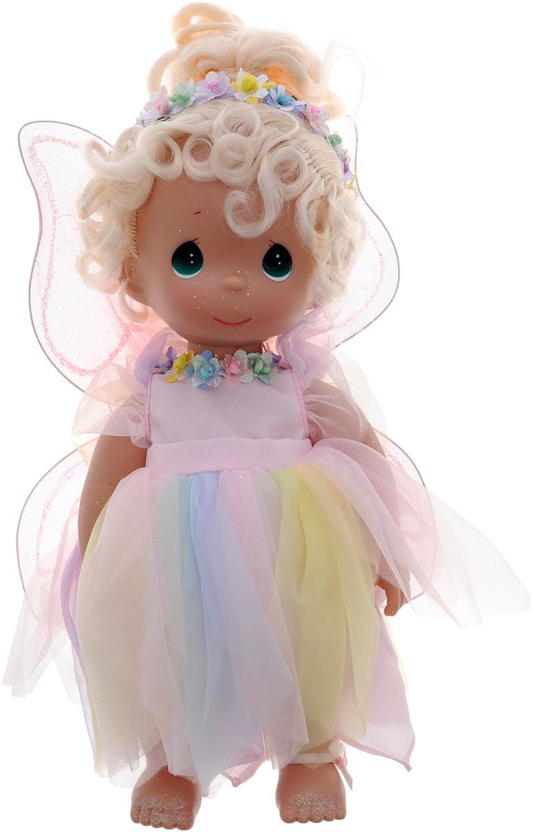 Precious Moments Кукла Сад феи4530Коллекция кукол Precious Moments ростом выше 30 см насчитывает на сегодняшний день более 600 видов. Куклы изготавливаются из качественного, безопасного материала и имеют пять базовых точек артикуляции. Каждый год в коллекцию добавляются все новые и новые модели. Каждая кукла имеет свой неповторимый образ и характер. Она может быть подарком на память о каком-либо событии в жизни. Куклы выполнены с любовью и нежностью, которую дарит нам известная волшебница - создатель кукол Линда Рик! Кукла Сад феи одета в яркое платье с блестящими крыльями, которые можно с легкостью отстегнуть. Ее прическу украшает разноцветный венок. Одежда у куклы съемная. У девочки светлые волосы и большие зеленые глаза. Игра с куклой разовьет в вашей малышке чувство ответственности и заботы. Порадуйте свою принцессу таким великолепным подарком!