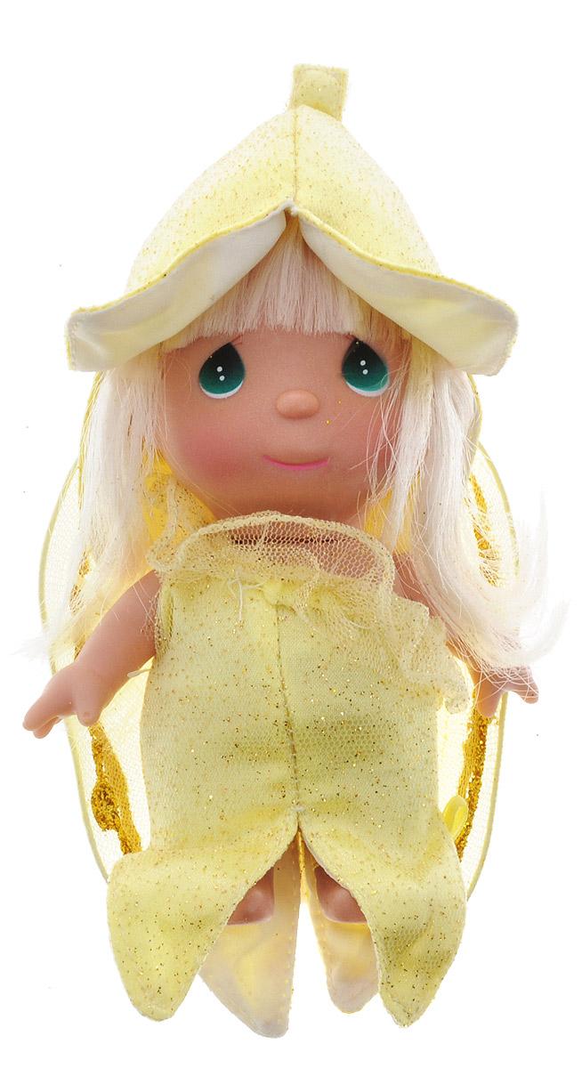 Precious Moments Мини-кукла Волшебный банан5354Какие же милые эти куколки Precious Moments. Создатель этих очаровательных крошек настоящая волшебница - Линда Рик - оживила свои творения, каждая кукла обрела свой милый и неповторимый образ. Эти крошки могут сопровождать вас в чудесных странствиях и сделать каждый момент вашей жизни незабываемым! Мини-кукла Волшебный банан одета в желтое платье, усыпанное блестками. На спине у куклы блестящие желтые крылышки, которые с легкостью можно отстегнуть. Светлые длинные волосы куклы убраны в косичку. На голове у куклы забавная желтая шляпка. У девочки большие зеленые глаза. Благодаря играм с куклой, ваша малышка сможет развить фантазию и любознательность, овладеть навыками общения и научиться ответственности. Порадуйте свою принцессу таким прекрасным подарком!