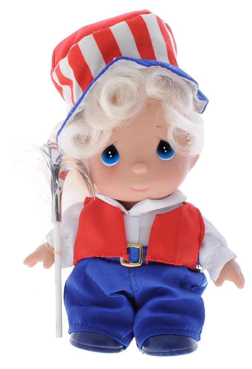 Precious Moments Мини-кукла Июль5369Какие же милые эти куколки Precious Moments. Создатель этих очаровательных крошек настоящая волшебница - Линда Рик - оживила свои творения, каждая кукла обрела свой милый и неповторимый образ. Эти крошки могут сопровождать вас в чудесных странствиях и сделать каждый момент вашей жизни незабываемым! Мини-кукла Июль одета в синие брючки, белую рубашку и красную жилетку. На голове у куколки шляпа в цвет костюма. Светлые длинные волосы куклы убраны в хвост. У девочки большие синие глаза. В руке куколка держит волшебную палочку. Благодаря играм с куклой, ваша малышка сможет развить фантазию и любознательность, овладеть навыками общения и научиться ответственности. Порадуйте свою принцессу таким прекрасным подарком!