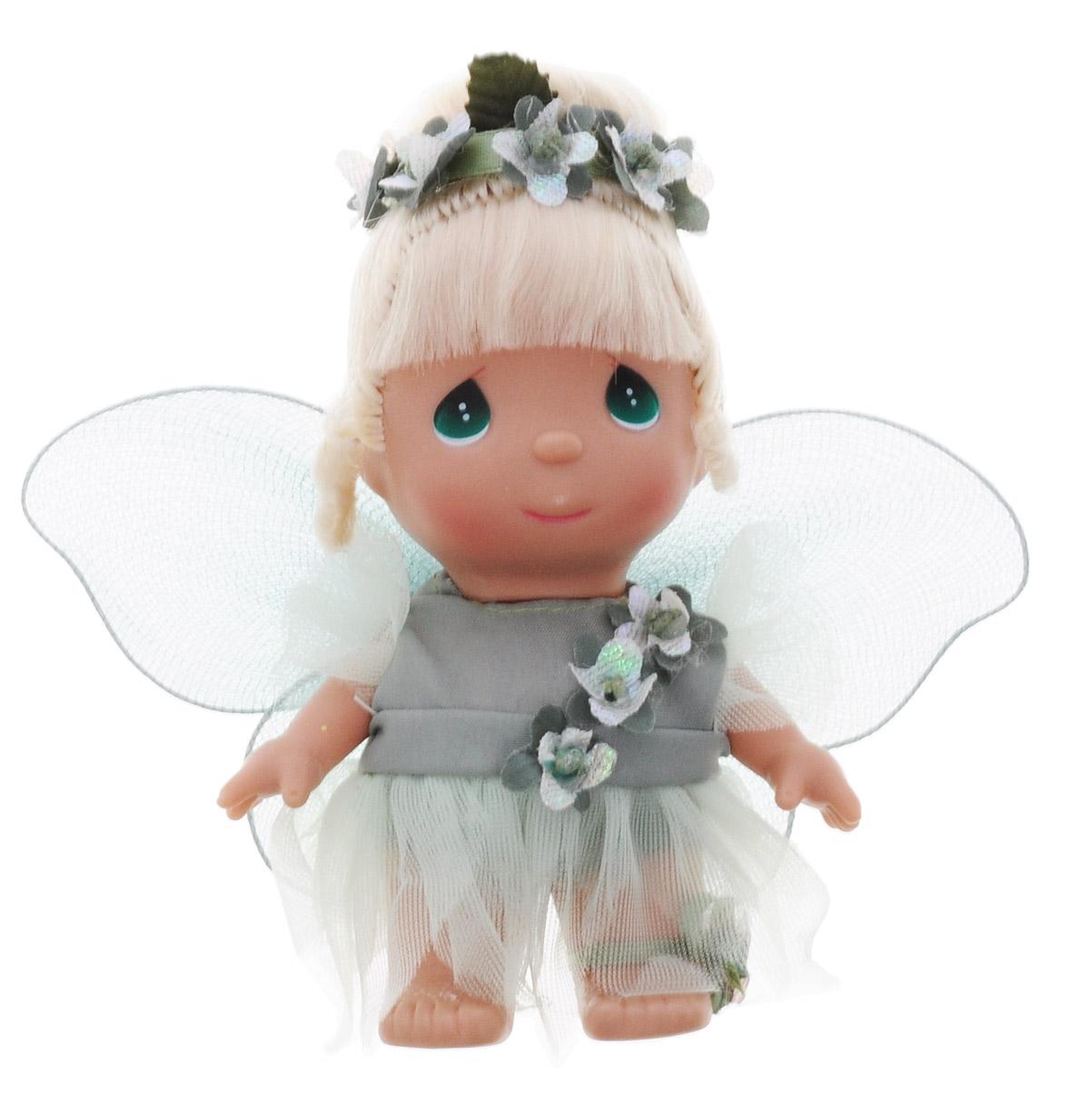 Precious Moments Мини-кукла Фея цвет наряда зеленый5408Какие же милые эти куколки Precious Moments. Создатель этих очаровательных крошек настоящая волшебница - Линда Рик - оживила свои творения, каждая кукла обрела свой милый и неповторимый образ. Эти крошки могут сопровождать вас в чудесных странствиях и сделать каждый момент вашей жизни незабываемым! Мини-кукла Фея одета в волшебное платье зеленого цвета. На спине у куклы крылышки, которые с легкостью можно отстегнуть. Светлые волосы куклы убраны в прическу, украшенную зелеными цветами. У девочки большие зеленые глаза. Благодаря играм с куклой, ваша малышка сможет развить фантазию и любознательность, овладеть навыками общения и научиться ответственности. Порадуйте свою принцессу таким прекрасным подарком!