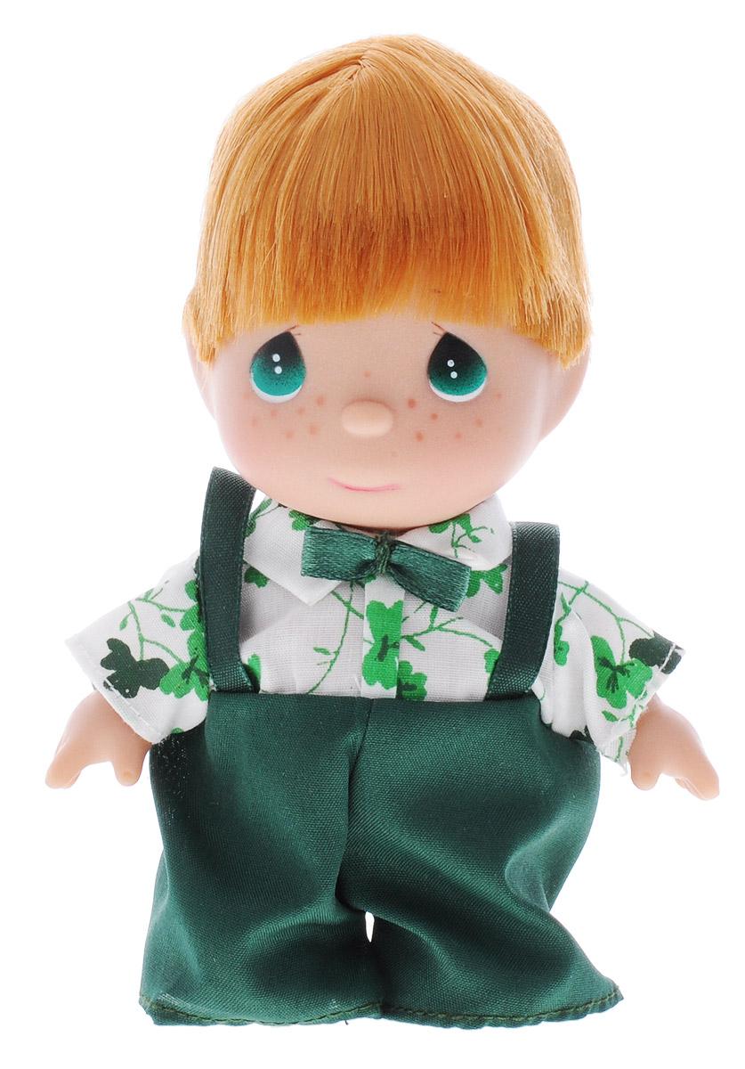 Precious Moments Мини-кукла Ирландский мальчик5293Какие же милые эти куколки Precious Moments. Создатель этих очаровательных крошек настоящая волшебница - Линда Рик - оживила свои творения, каждая кукла обрела свой милый и неповторимый образ. Эти крошки могут сопровождать вас в чудесных странствиях и сделать каждый момент вашей жизни незабываемым! Мини-кукла Ирландский мальчик одета в белую рубашку с зелеными цветочками и зеленые штанишки. У мальчика большие зеленые глаза и рыжие волосы. Благодаря играм с куклой, ваша малышка сможет развить фантазию и любознательность, овладеть навыками общения и научиться ответственности. Порадуйте свою принцессу таким прекрасным подарком!