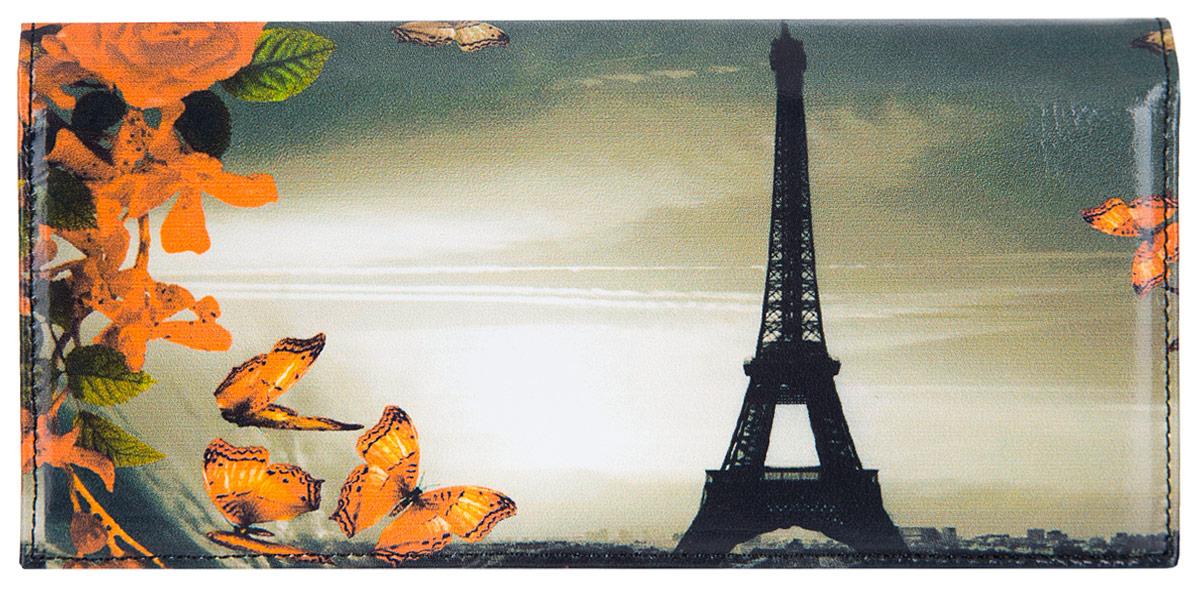 Портмоне женское Flioraj Париж, цвет: белый, черный, оранжевый. 0005093700050937Элегантный кошелек Flioraj выполнен из натуральной кожи с красочным фотопринтом. Кошелек закрывается широким клапаном на кнопку. Внутри имеется пять отделений для купюр и бумаг, карман для мелочи на застежке-молнии, шесть наборных карманов для кредитных карт или визиток. На внешней стороне расположен карман для мелких бумаг. Такое портмоне станет отличным подарком для человека, ценящего качественные и необычные вещи. Портмоне упаковано в картонную коробку с логотипом фирмы. B>Характеристики: Материал: натуральная кожа, металл, текстиль. Размер кошелька: 18 см x 9 см х 2 см. Цвет: белый, черный, оранжевый. Размер упаковки: 20 см х 12 см х 3 см. Производитель: Россия. Артикул: 00050937