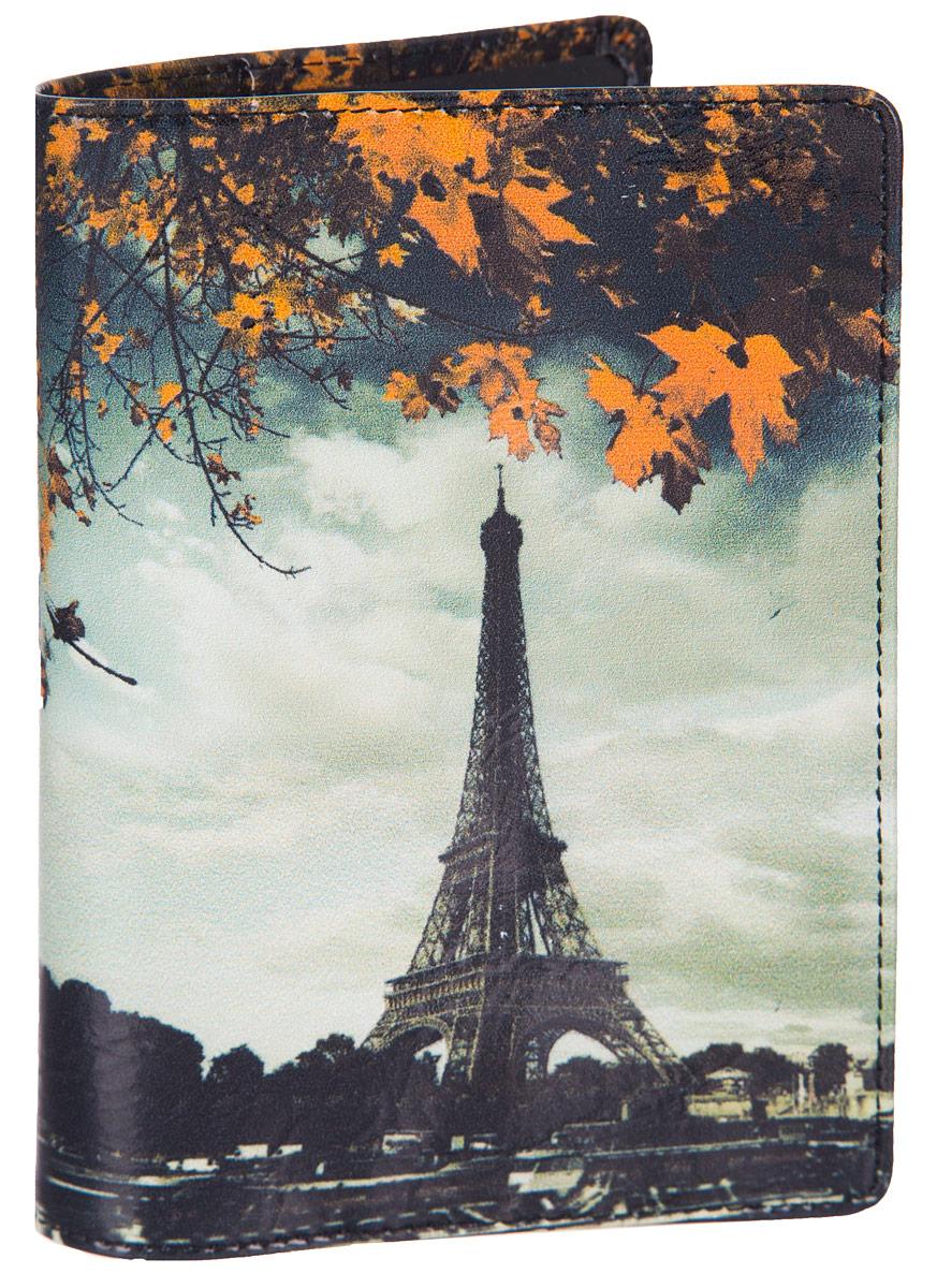 Обложка для паспорта Flioraj Париж, цвет: белый, черный, оранжевый. 0005094900050949Обложка для паспорта Flioraj не только поможет сохранить внешний вид ваших документов и защитить их от повреждений, но и станет стильным аксессуаром, идеально подходящим вашему образу. Обложка выполнена из натуральной кожи и оформлена ярким фотопринтом Париж. Внутри имеет два вертикальных кармана из прозрачного пластика. Такая обложка поможет вам подчеркнуть свою индивидуальность и неповторимость! Обложка для паспорта стильного дизайна может быть достойным и оригинальным подарком.