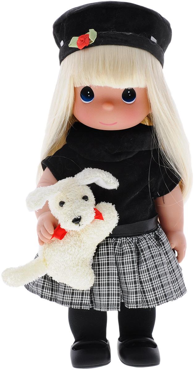 Precious Moments Кукла Ты так мила4656Коллекция кукол Precious Moments ростом выше 30 см насчитывает на сегодняшний день более 600 видов. Куклы изготавливаются из качественного, безопасного материала и имеют пять базовых точек артикуляции. Каждый год в коллекцию добавляются все новые и новые модели. Каждая кукла имеет свой неповторимый образ и характер. Она может быть подарком на память о каком- либо событии в жизни. Куклы выполнены с любовью и нежностью, которую дарит нам известная волшебница - создатель кукол Линда Рик! Кукла Ты так мила станет отличным подарком для любой девочки на день рождения или другой праздник. Куколка одета в черную кофту и клетчатую юбку. На ногах у куклы колготки и черные ботиночки. Вашей дочурке непременно понравится расчесывать длинные белокурые волосы куклы, придумывая различные прически. В руке у куклы ее игрушка - собачка. Одежда вся съемная. Кукла научит ребенка взаимодействовать с окружающими, а также поспособствует развитию воображения, логики и ...