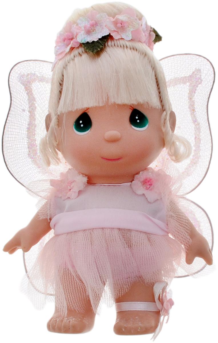 Precious Moments Мини-кукла Фея цвет наряда розовый5407Какие же милые эти куколки Precious Moments. Создатель этих очаровательных крошек настоящая волшебница - Линда Рик - оживила свои творения, каждая кукла обрела свой милый и неповторимый образ. Эти крошки могут сопровождать вас в чудесных странствиях и сделать каждый момент вашей жизни незабываемым! Мини-кукла Фея одета в волшебное платье розового цвета. На спине у куклы крылышки, которые с легкостью можно отстегнуть. Светлые волосы куклы убраны в прическу, украшенную розовыми цветами. У девочки большие зеленые глаза. Благодаря играм с куклой, ваша малышка сможет развить фантазию и любознательность, овладеть навыками общения и научиться ответственности. Порадуйте свою принцессу таким прекрасным подарком!