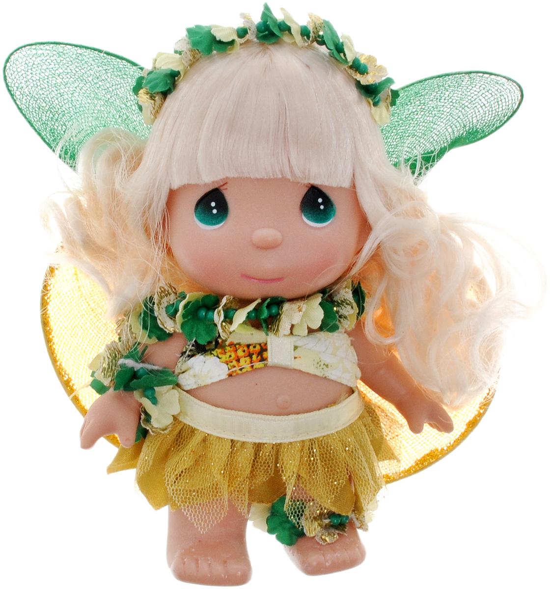 Precious Moments Мини-кукла Волшебный ананас5350Какие же милые эти куколки Precious Moments. Создатель этих очаровательных крошек настоящая волшебница - Линда Рик - оживила свои творения, каждая кукла обрела свой милый и неповторимый образ. Эти крошки могут сопровождать вас в чудесных странствиях и сделать каждый момент вашей жизни незабываемым! Мини-кукла Волшебный ананас одета в легкий костюм. На спине у куколки крылья, которые с легкостью можно отстегнуть. Светлые волосы украшены венком из цветков. У девочки большие зеленые глаза. Благодаря играм с куклой, ваша малышка сможет развить фантазию и любознательность, овладеть навыками общения и научиться ответственности. Порадуйте свою принцессу таким прекрасным подарком!
