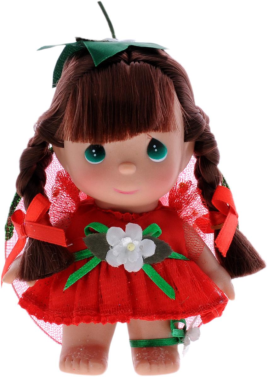 Precious Moments Мини-кукла Волшебная клубничка5351Какие же милые эти куколки Precious Moments. Создатель этих очаровательных крошек настоящая волшебница - Линда Рик - оживила свои творения, каждая кукла обрела свой милый и неповторимый образ. Эти крошки могут сопровождать вас в чудесных странствиях и сделать каждый момент вашей жизни незабываемым! Мини-кукла Волшебная клубничка одета в легкое красное платье. На спине у куколки крылья, которые с легкостью можно отстегнуть. Темные волосы заплетены в две косички. У девочки большие зеленые глаза. Благодаря играм с куклой, ваша малышка сможет развить фантазию и любознательность, овладеть навыками общения и научиться ответственности. Порадуйте свою принцессу таким прекрасным подарком!