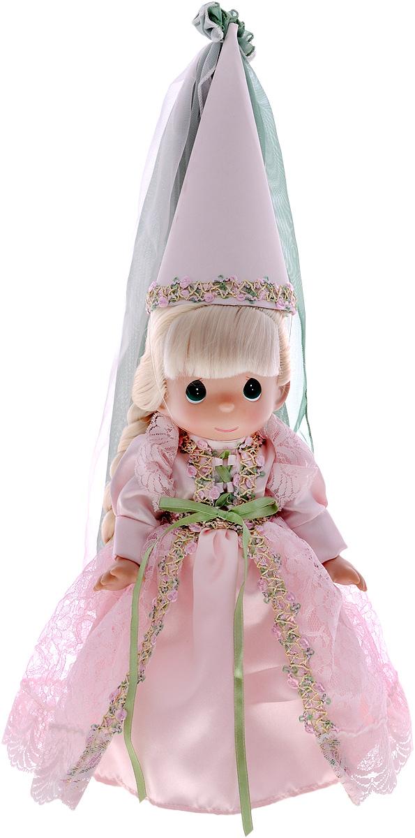 Precious Moments Кукла Рапунцель цвет платья розовый8378Коллекция кукол Precious Moments ростом выше 30 см насчитывает на сегодняшний день более 600 видов. Куклы изготавливаются из качественного, безопасного материала и имеют пять базовых точек артикуляции. Каждый год в коллекцию добавляются все новые и новые модели. Каждая кукла имеет свой неповторимый образ и характер. Она может быть подарком на память о каком- либо событии в жизни. Куклы выполнены с любовью и нежностью, которую дарит нам известная волшебница - создатель кукол Линда Рик! Кукла Рапунцель обязательно привлечет внимание вашей малышки и не позволит ей скучать. Рапунцель одета в шикарное длинное платье с пышной юбкой, а на ногах - розовые туфельки. Длинные светлые волосы заплетены в косу и украшены бантиком. На голове у куклы высокий колпак. Вся одежда куколки съемная. Кукла Precious Moments Рапунцель станет отличным подарком для любой девочки на день рождения или другой праздник. Игры с куклой научат ребенка взаимодействовать с...