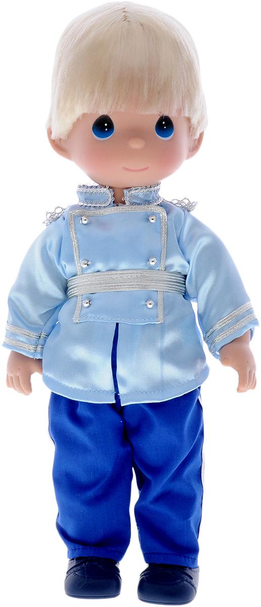 Precious Moments Кукла Принц8382Коллекция кукол Precious Moments ростом выше 30 см насчитывает на сегодняшний день более 600 видов. Куклы изготавливаются из качественного, безопасного материала и имеют пять базовых точек артикуляции. Каждый год в коллекцию добавляются все новые и новые модели. Каждая кукла имеет свой неповторимый образ и характер. Она может быть подарком на память о каком-либо событии в жизни. Куклы выполнены с любовью и нежностью, которую дарит нам известная волшебница - создатель кукол Линда Рик! Кукла Принц одета в синие штаны и голубую рубашку. На ногах Принца - синие ботиночки. Одежда у куклы съемная. У мальчика светлые волосы и большие синие глаза. Игра с куклой разовьет в вашей малышке чувство ответственности и заботы. Порадуйте свою принцессу таким великолепным подарком!