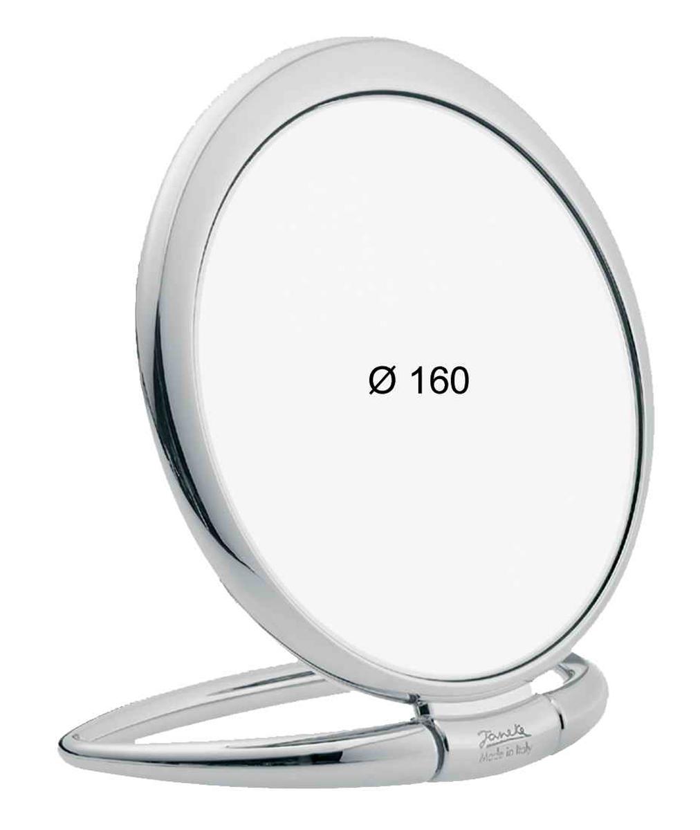 Janeke Зеркало настольное D160, линзы ZEISS, хромированное, CR443.6709982Марка Janeke – мировой лидер по производству расчесок, щеток, маникюрных принадлежностей, зеркал и косметичек. Марка Janeke, основанная в 1830 году, вот уже почти 180 лет поддерживает непревзойденное качество своей продукции, сочетая новейшие технологии с традициями ста- рых миланских мастеров. Все изделия на 80% производятся вручную, а инновационные технологии и современные материалы делают продукцию марки поистине уникальной. Стильный и эргономичный дизайн, яркие цветовые решения – все это приносит истин- ное удовольствие от использования аксессуаров Janeke. Зеркала для дома итальянской марки Janeke, изготовленные из высококачественных материалов и выполненные в оригинальном стильном дизайне, дополнят любой интерьер. Односторонние или двусторонние, с увеличением и без, на красивых и удобных подс- тавках – зеркала Janeke прослужат долго и доставят истинное удо- вольствие от использования