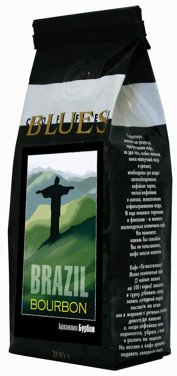 Блюз Бразилия Бурбон кофе в зернах, 200 г4600696220025Блюз Бразилия Бурбон - один из лучших бразильских сортов кофе, названный по имени французского острова Бурбон в Карибском море. Обладает чистым, нейтральным, слегка сладковатым ароматом и сладковато- горьковатым, немного маслянистым вкусом с легкой кислинкой. Напиток имеет среднюю насыщенность, букет хорошо сбалансирован, с легкими фруктовыми нотками. Имеет долгое послевкусие.