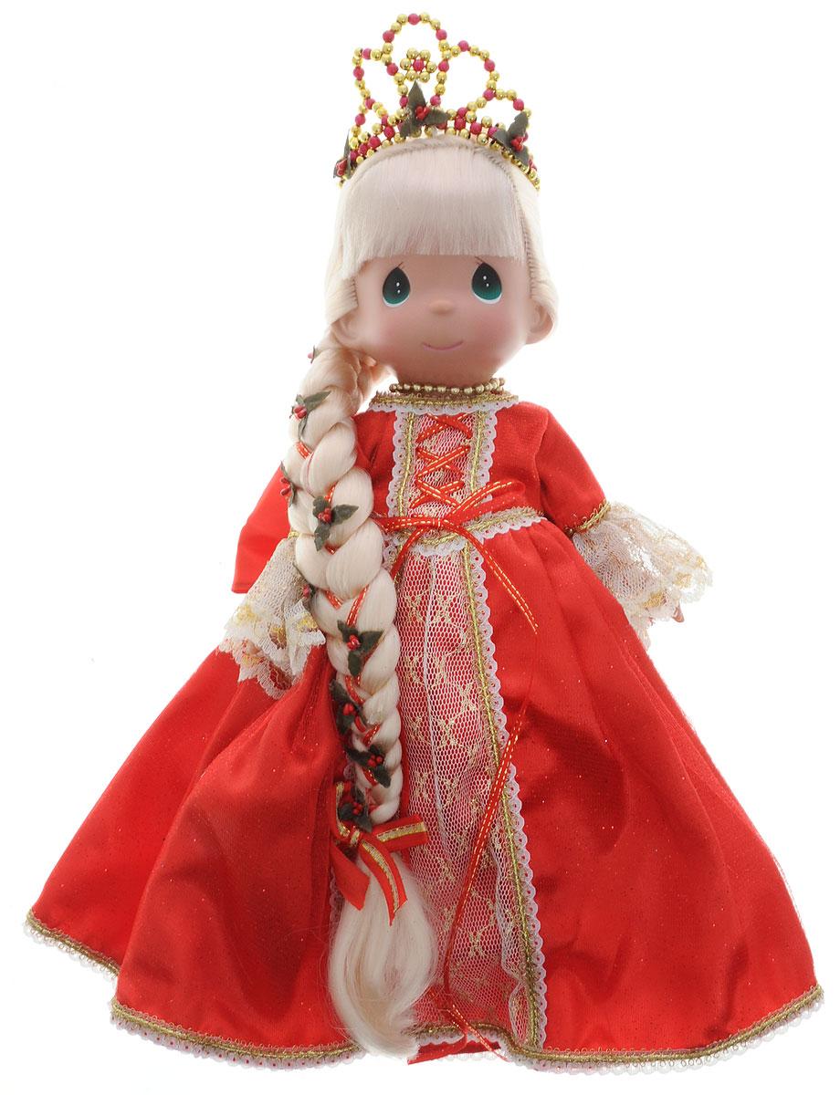 Precious Moments Кукла Рапунцель цвет платья красный8389Коллекция кукол Precious Moments ростом выше 30 см насчитывает на сегодняшний день более 600 видов. Куклы изготавливаются из качественного, безопасного материала и имеют пять базовых точек артикуляции. Каждый год в коллекцию добавляются все новые и новые модели. Каждая кукла имеет свой неповторимый образ и характер. Она может быть подарком на память о каком- либо событии в жизни. Куклы выполнены с любовью и нежностью, которую дарит нам известная волшебница - создатель кукол Линда Рик! Очаровательная кукла Рапунцель одета в шикарное платье красного цвета с пышной юбкой, на ногах - красные туфельки. Длинные светлые волосы куклы заплетены в косу и украшены бантиком. На голове у Рапунцель - тиара, а на шее - ожерелье. Одежда съемная. Такая куколка очарует вас и вашу дочурку с первого взгляда! Игры с куклой способствуют эмоциональному развитию ребенка, а также помогают формировать воображение и художественный вкус.