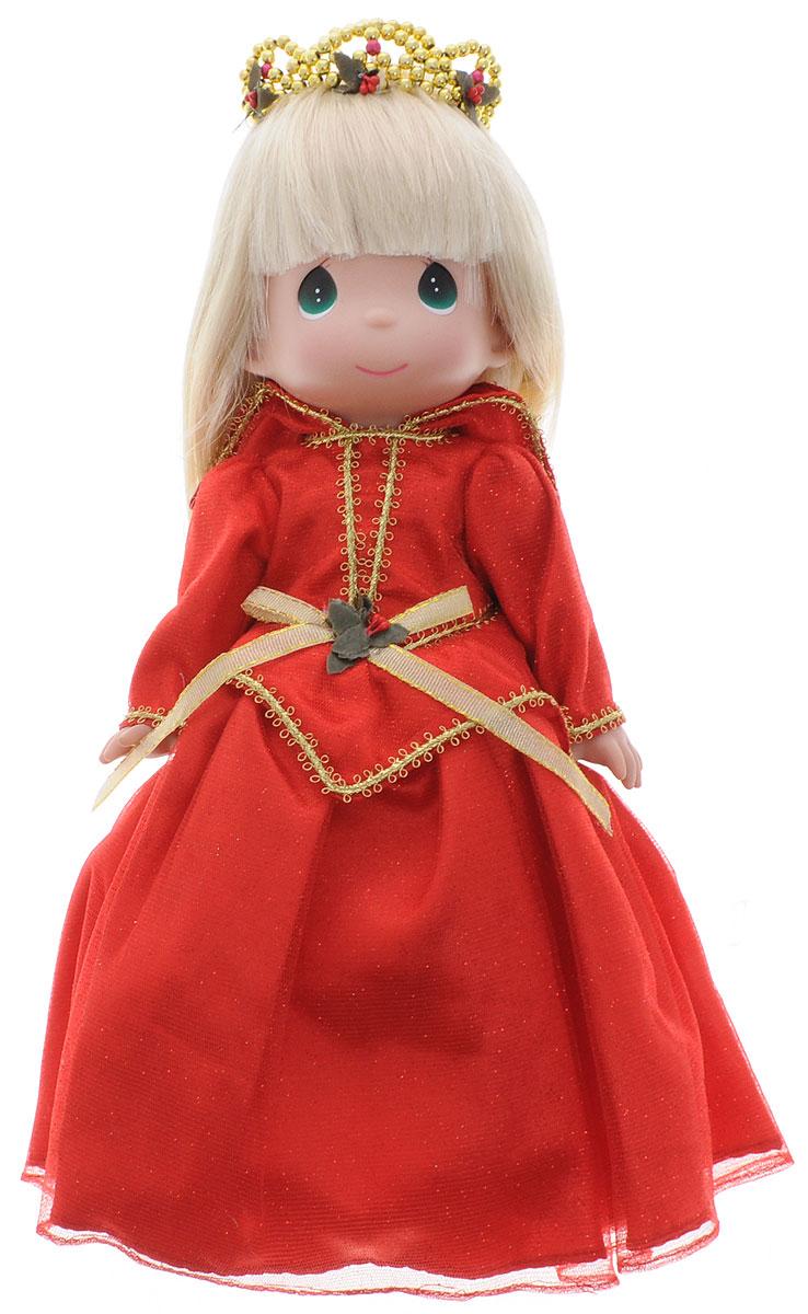 Precious Moments Кукла Спящая красавица цвет платья красный8388Коллекция кукол Precious Moments ростом выше 30 см насчитывает на сегодняшний день более 600 видов. Куклы изготавливаются из качественного, безопасного материала и имеют пять базовых точек артикуляции. Каждый год в коллекцию добавляются все новые и новые модели. Каждая кукла имеет свой неповторимый образ и характер. Она может быть подарком на память о каком-либо событии в жизни. Куклы выполнены с любовью и нежностью, которую дарит нам известная волшебница - создатель кукол Линда Рик! Коллекционная кукла Спящая красавица со светлыми волосами одета в шикарное красное платье с блестками и золотистой вышивкой. На голове - диадема из бусинок золотистого цвета. У куклы милое личико с большими изумрудными глазами. Вся одежда съемная. Вашей дочурке непременно понравится расчесывать волосы куклы, придумывая различные прически. Кукла научит ребенка взаимодействовать с окружающими, а также поспособствует развитию воображения, логики и тактильного восприятия. Кукла станет...