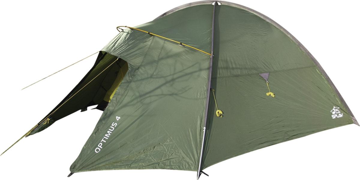 Палатка Сплав Optimus 4, цвет: зеленый5057950Легкая четырехместная туристическая палатка на внешних дугах Тент и палатка могут устанавливаться одновременно Возможна установка отдельно тента без внутренней палатки Тамбур на отдельной консольной дуге Вход и вентиляция внутренней палатки продублированы противомоскитной сеткой Вентиляционное отверстие над внутренней палаткой можно открывать и закрывать, не выходя из палатки Козырек вентиляции над входом дополнительно служит хорошей защитой от дождя Усиленные штормовые оттяжки Веревки оттяжек имеют вплетенную светоотражающую нить Карманы для мелочей, подвесная полка Швы тента и дна проклеены. Сезонность: 4 Количество мест: 4 Количество дуг: 3 Габариты и вес: Размеры внешней палатки, тента (Д?Ш?В): 320?230?140 см Размеры спального места (Д?Ш?В): 210?210?130 см Размеры в упакованном виде (Д?Ш?В): 54?20?20 см Полный вес: 4,19 кг Минимальный вес (без чехла и колышков): 3,98 кг