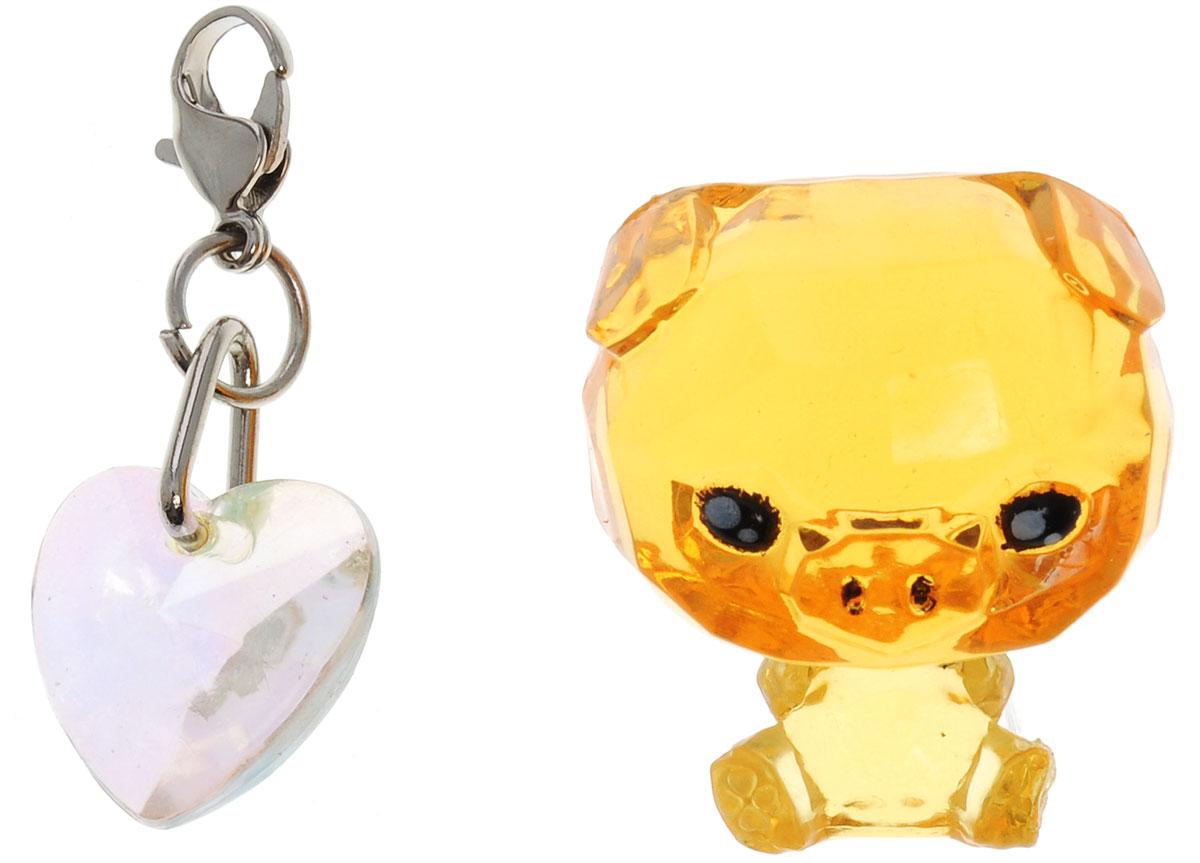 Crystal Surprise Фигурка Поросенок Zing цвет оранжевый45702_оранжевыйСамые искристые, самые сияющие малютки-зверюшки собрались здесь, чтобы принести вам удачу! Когда на небе встает солнце вдогонку тающей луне, появляются зверьки Crystal Surprise. Возьмите их в руку - и почувствуете, как они приносят удачу. У каждого зверька Crystal Surprise есть свое предназначение, каждый из них станет вашим талисманом. Носите, дарите их. Соберите их всех, чтобы умножить их магические способности! Предназначение фигурки Crystal Surprise Поросенок Zing - везение. Фигурка искрится и сияет - вам удачу прибавляет! Носите поросенка везде с собой - это ваш талисман удачи! В набор также входит подвеска на удачу!