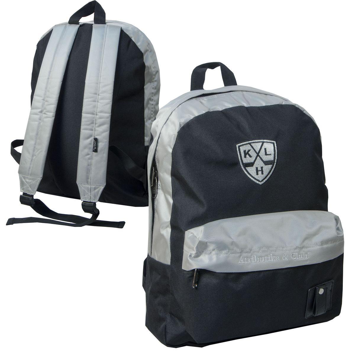 Рюкзак спортивный КХЛ, цвет: серо-черный, 18 л. 2821828218Модель имеет одно основное отделение и большой нашивной карман на молнии. Лямки оснащены фиксаторами длины.