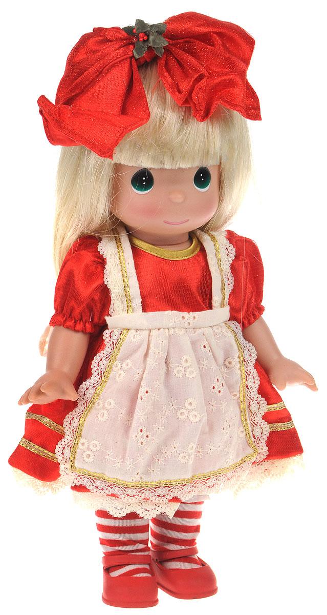 Precious Moments Кукла Алиса в стране чудес8386Коллекция кукол Precious Moments ростом выше 30 см насчитывает на сегодняшний день более 600 видов. Куклы изготавливаются из качественного, безопасного материала и имеют пять базовых точек артикуляции. Каждый год в коллекцию добавляются все новые и новые модели. Каждая кукла имеет свой неповторимый образ и характер. Она может быть подарком на память о каком- либо событии в жизни. Куклы выполнены с любовью и нежностью, которую дарит нам известная волшебница - создатель кукол Линда Рик! Кукла Алиса в стране чудес одета в красное платье и светлый фартук, на ножках у нее туфельки в тон платья. Вашей дочурке непременно понравится расчесывать длинные белокурые волосы куклы, придумывая различные прически. А дополнением к прическе служит красный бант. Одежда куклы съемная. Кукла Precious Moments Алиса в стране чудес станет отличным подарком для любой девочки на день рождения или другой праздник. Игры с куклой способствуют эмоциональному развитию...