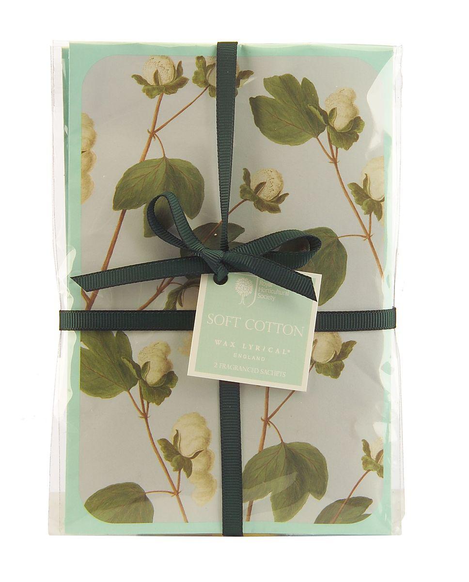 Набор ароматических саше Wax Lyrical Цветущий хлопок, 2 шт, 45 гRH5629Деликатный цветочный аромат фиалки, лилии, розы и цветов мягкого хлопка на основе мускуса.