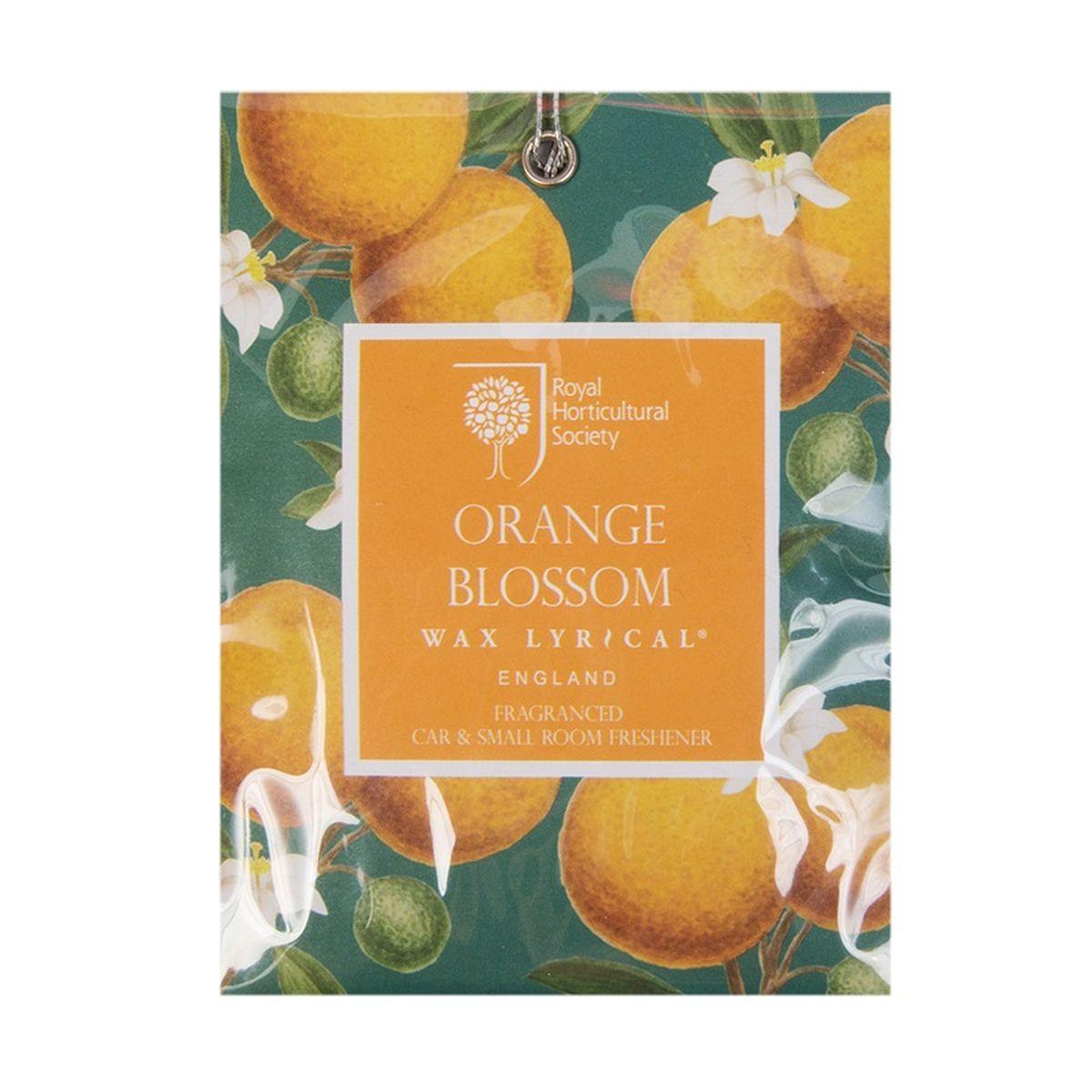 Мини-саше ароматические Wax Lyrical Цветок апельсина, 20 гRH5845Красивый весенний аромат цветущего апельсинового дерева и гардении со свежим воздушным зелёным оттенком верхних нот, подчеркнутый тёплой основой из амбры и мускуса.