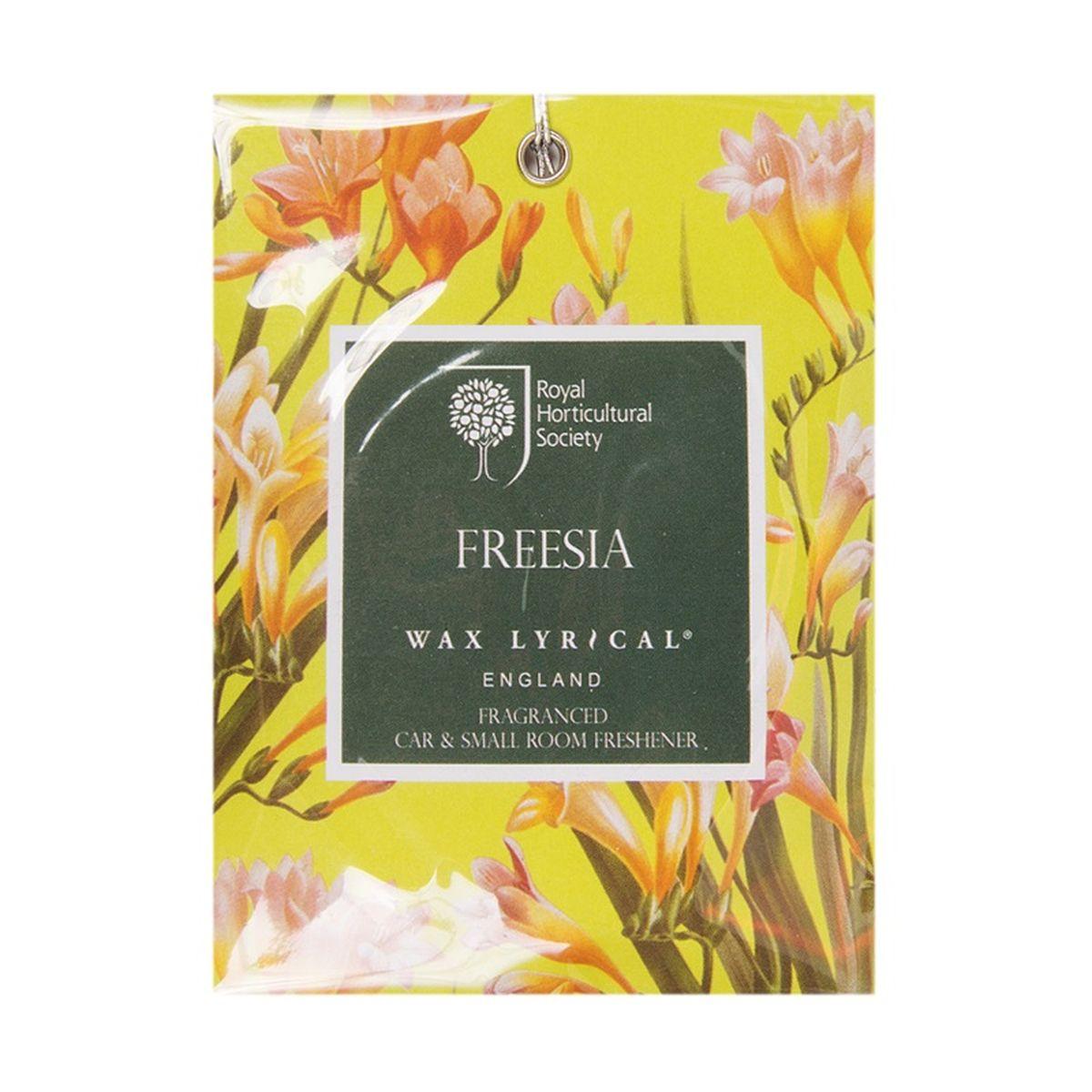 Мини-саше ароматические Wax Lyrical Цветущая фрезия, 20 гRH5812Нежный сенсорный цветочный аромат с тонким аккордом свежесорванных листьев сочетает в себе ноты фрезии, гардении и орхидеи, рождая чистый и женственный аромат.