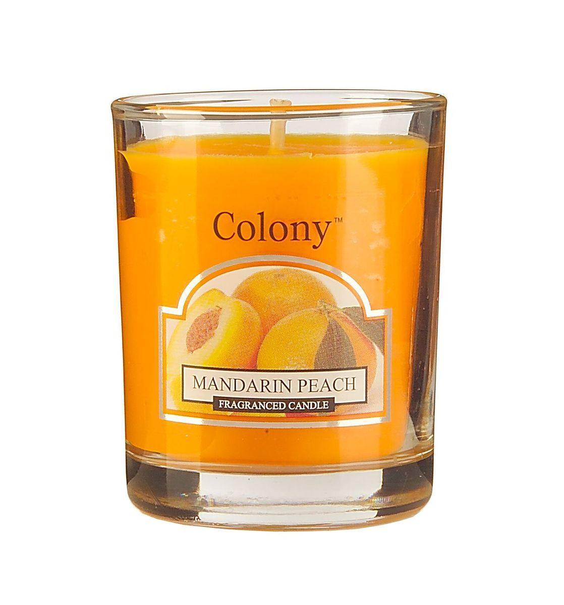 Свеча ароматическая лампадная Wax Lyrical Мандарин и персик, 14 часов, 130 гCH3618Бодрящий аромат спелого персика и сладкого мандарина.