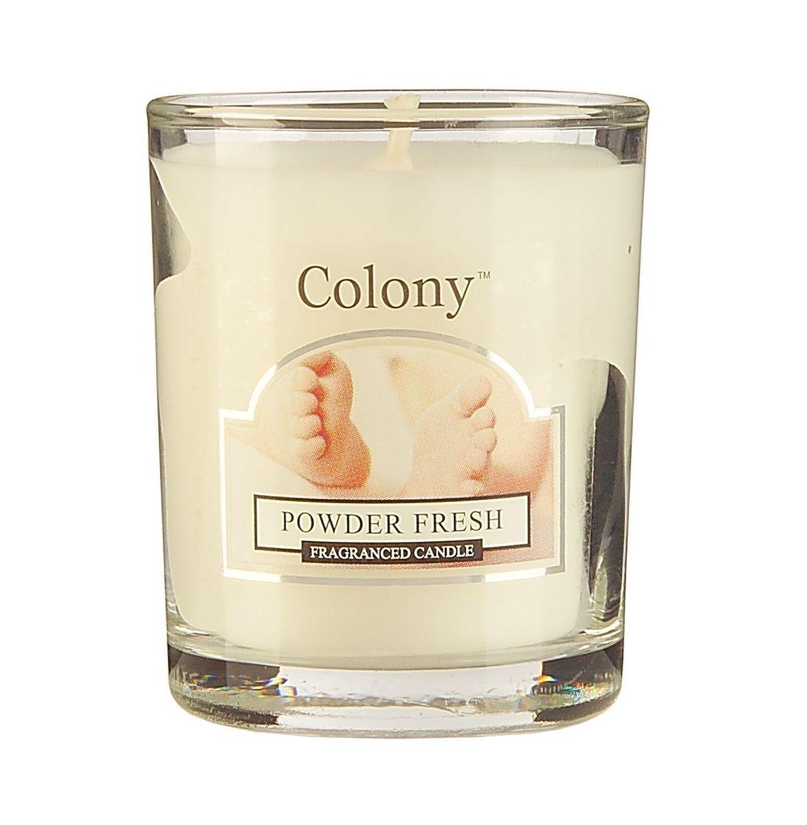 Свеча ароматическая лампадная Wax Lyrical Свежая пудра, 14 часов, 130 гCH3601Чувственная цветочная композиция на основе ароматных бобов тонка.
