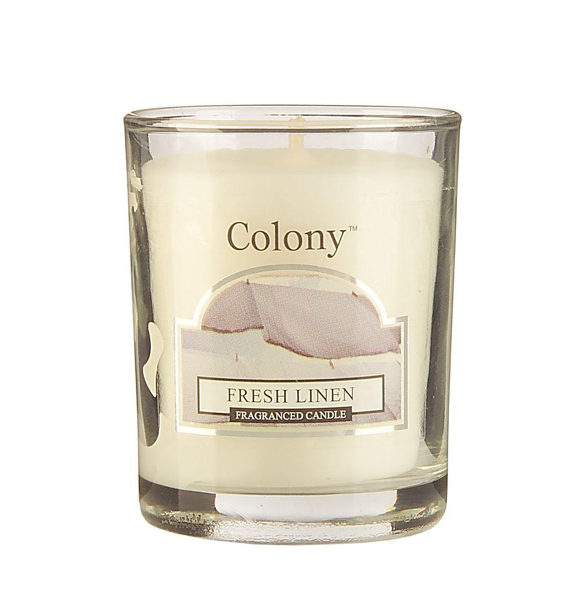 Свеча ароматическая лампадная Wax Lyrical Свежий лен, 14 часов, 130 гCH3603Насыщенный аромат промытого льна.