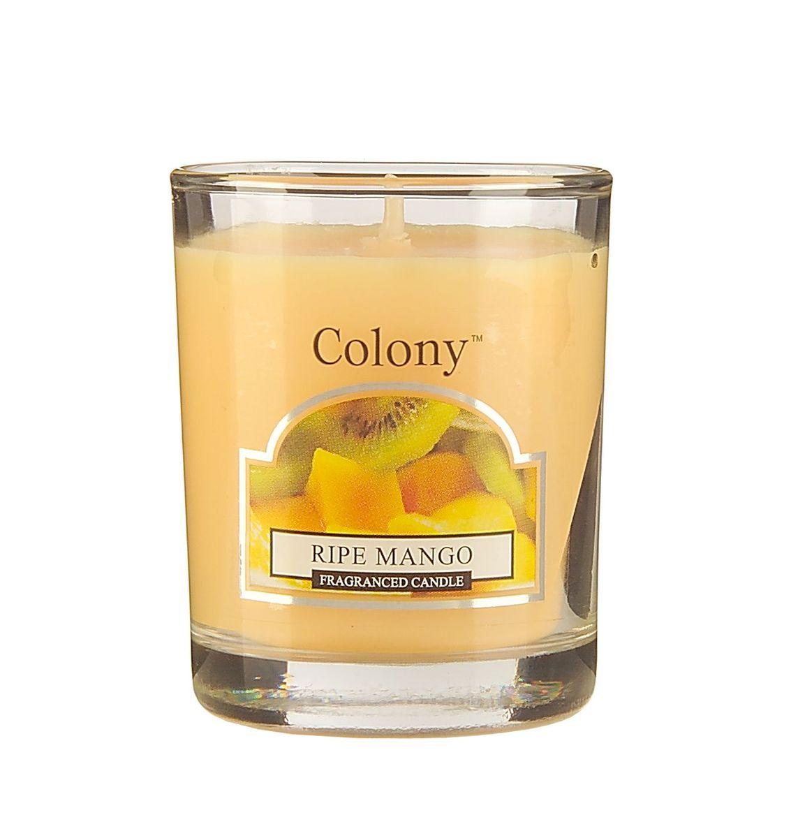 Свеча ароматическая лампадная Wax Lyrical Спелый манго, 14 часов, 130 гCH3613Сочный солнечный аромат спелых фруктов - манго, персика и арбуза - с нотками цветущих экзотических растений - жасмина и джакаранды.
