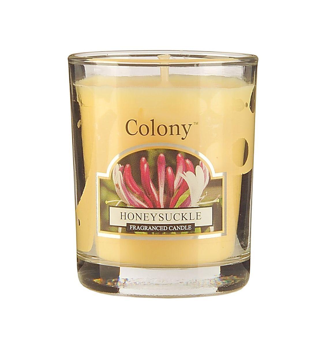 Свеча ароматическая лампадная Wax Lyrical Цветущая жимолость, 14 часов, 130 гCH3631Нежный успокаивающий аромат цветов жимолости, дополненный едва уловимым дресным оттенком.