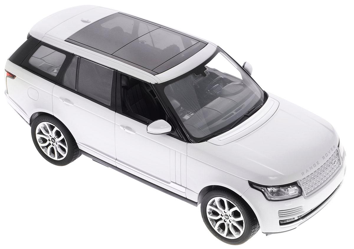 Rastar Радиоуправляемая модель Range Rover цвет белый масштаб 1:1449700_белыйРадиоуправляемая модель Rastar Range Rover обязательно привлечет внимание вашего ребенка и станет его любимой игрушкой. Все дети хотят иметь в наборе своих игрушек ослепительные, невероятные и модные автомобили на радиоуправлении. Тем более, если это автомобиль известной марки с проработкой всех деталей, удивляющий приятным качеством и видом. Одной из таких моделей является автомобиль на радиоуправлении Rastar Range Rover. Это точная копия настоящего авто в масштабе 1:14. Управление моделью происходит с помощью пульта управления. Возможные движения: вперед, назад, вправо, влево, остановка. Имеются световые эффекты. Пульт управления работает на частоте 40 MHz. Для работы машины необходимо купить 5 батареек типа АА (не входят в комплект). Для работы пульта управления необходимо купить батарейку типа Крона (не входит в комплект).