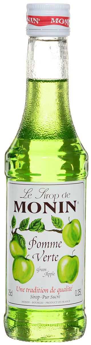 Monin Зеленое яблоко сироп, 0.25 л