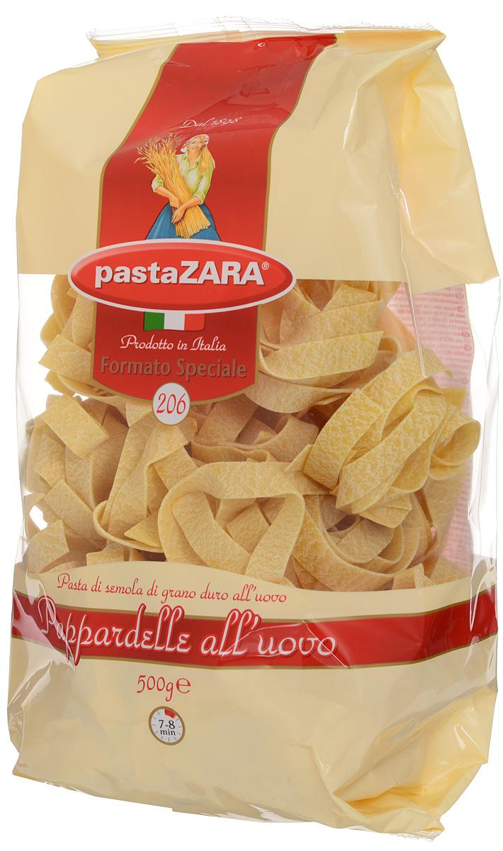 Pasta Zara Клубки яичные широкие паппарделле макароны, 500 г8004350231055Макаронные изделия Pasta Zara — одна из самых популярных марок итальянских макаронных изделий в России. Продукция под торговой маркой Паста Зара сочетает в себе современность технологий производства и традиционное итальянское качество. Макаронные изделия этой марки представлены более чем в 80 странах мира. Макароны Pasta Zara выпускаются в Италии с 1898 года семьёй Браганьоло уже в течение четырёх поколений. Это семейный бизнес, который вкладывает более, чем вековой опыт работы с макаронными изделиями в создание и продвижение своего продукта, тщательно отслеживая сохранение традиций.