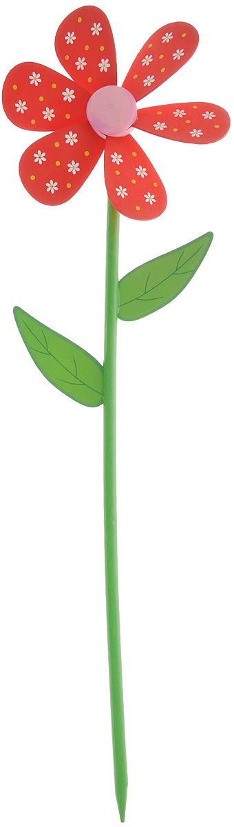 Декоративная фигура-вертушка Village People Цветник, цвет: красный, зеленый, белый, высота 57 см68457_красныйВетряная фигурка-вертушка Village People Цветник, изготовленная из дерева, это не только любимая всеми игрушка, но и замечательный способ отпугнуть птиц с грядок. Изделие выполнено в виде цветка и располагается на палочке. Яркий дизайн изделия оживит ландшафт сада. Высота: 57 см. Диаметр вертушки: 16 см.
