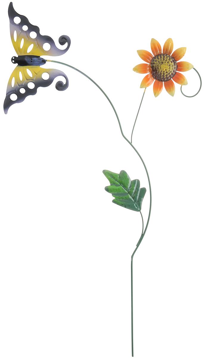 Украшение на ножке Village People Бабочка в полете, высота 58 см66984Украшение на ножке Village People Бабочка в полете поможет вам дополнить садовый интерьер красивой и яркой деталью. Украшение выполнено в ярком симпатичном дизайне, легко устанавливается в землю при помощи длинной металлической ножки. Ширина украшения: 32 см. Высота украшения: 58 см.