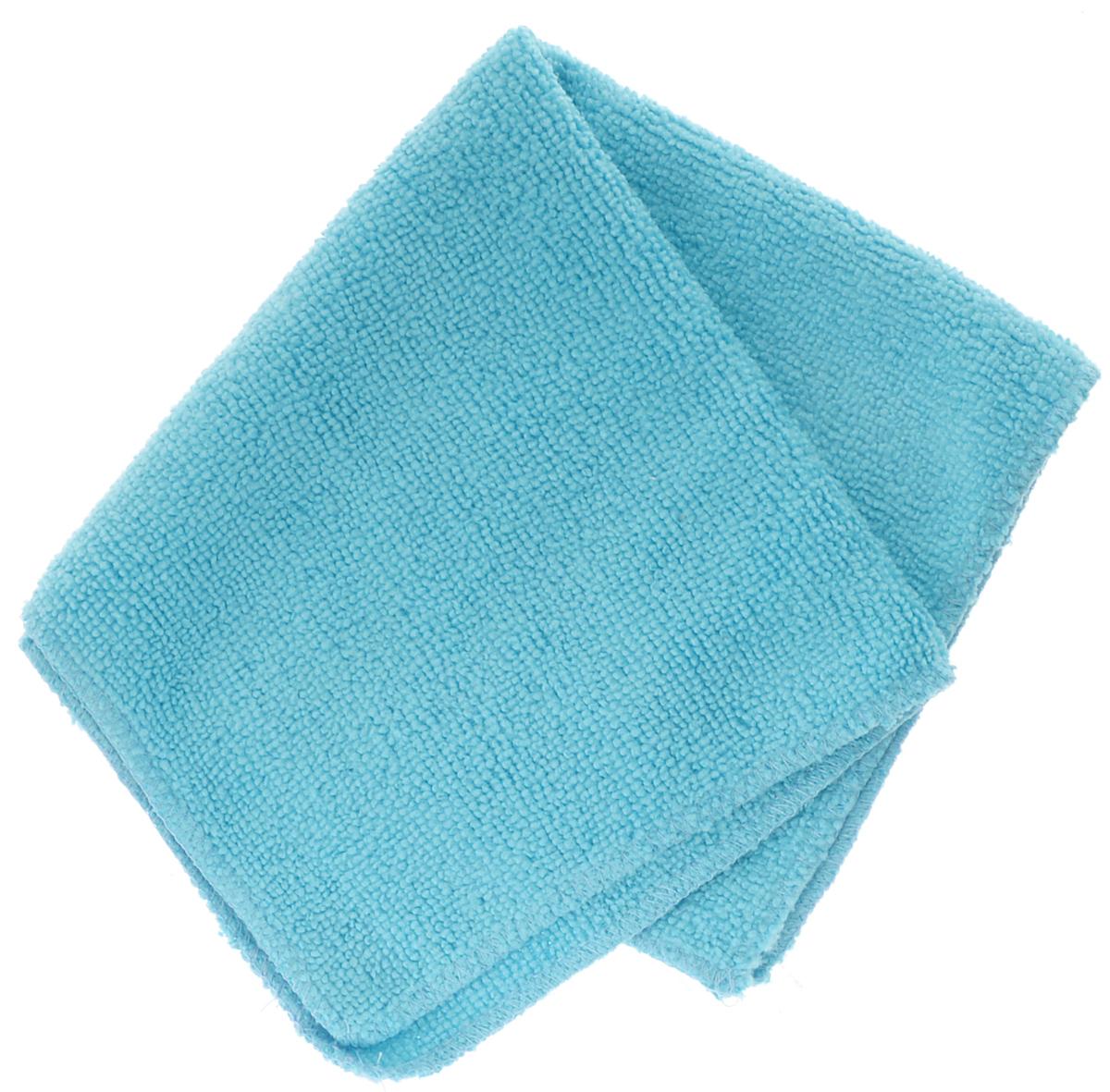 Салфетка автомобильная EvaAuto, универсальная , цвет: голубой, 30 х 30 смТ08_голубойУниверсальная автомобильная салфетка EvaAuto, выполненная из микрофибры, идеально подходит для уборки. В сухом виде применяется для вытирания пыли и легких загрязнений, во влажном - для удаления загрязнений с любых поверхностей без применения моющих средств. Не оставляет разводов и ворсинок, полностью впитывает влагу. Сохраняет эффект даже после многократных стирок. Размер салфетки: 30 см х 30 см.