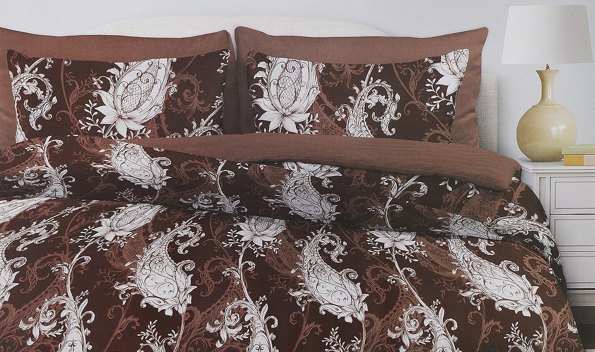 Комплект белья Любимый дом Венера, евро, наволочки 70х70, цвет: коричневый, белый331155_коричневыйКомплект постельного белья Любимый дом Венера состоит из пододеяльника, простыни и двух наволочек. Постельное белье оформлено оригинальным и изящным изображением и имеет изысканный внешний вид. Белье изготовлено из новой ткани Поплин, отвечающей всем необходимым нормативным стандартам. Поплин - натуральная, мягкая, легкая и приятная на ощупь ткань из 100% хлопка. Ткань с особым видом полотняного переплетения, отличие его в репсовом эффекте, то есть образование мелкого рубчика. Неотъемлемым плюсом является долговечность, износоустойчивость материала, но при этом особая мягкость. Уникальная ткань обеспечивает легкую глажку. Приобретая комплект постельного белья Любимый дом Венера, вы можете быть уверены в том, что покупка доставит вам и вашим близким удовольствие и подарит максимальный комфорт.