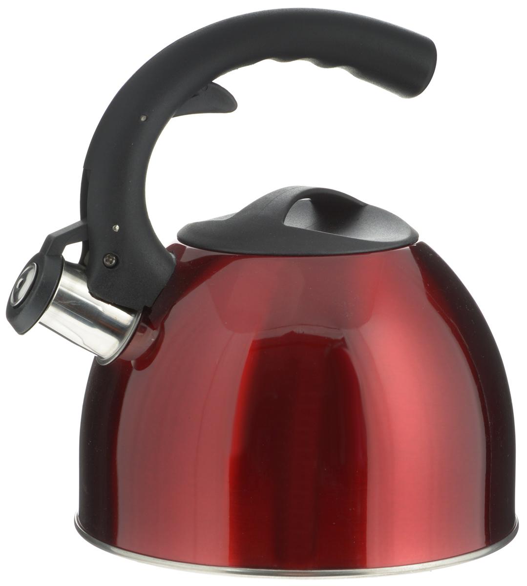 Чайник Mayer & Boch, со свистком, цвет: красный, 2,5 л. 2319723197_красныйЧайник Mayer & Boch изготовлен из высококачественной нержавеющей стали. Гладкая и ровная поверхность существенно облегчает уход. Чайник оснащен удобной нейлоновой ручкой, которая не нагревается даже при продолжительном периоде нагрева воды. Носик чайника имеет насадку-свисток, что позволит вам контролировать процесс подогрева или кипячения воды. Выполненный из качественных материалов, чайник Mayer & Boch при кипячении сохраняет все полезные свойства воды. Чайник пригоден для использования на всех типах плит, кроме индукционных. Можно мыть в посудомоечной машине. Высота чайника (без учета ручек): 12 см. Высота чайника (с учетом ручки): 22,5 см.