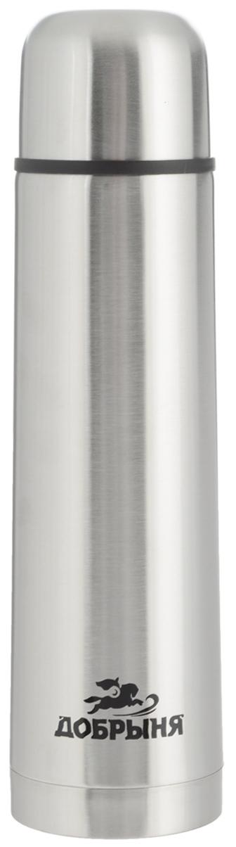 Термос Добрыня, 1 л. DO - 1803DO - 1803Дорожный термос Добрыня выполнен из нержавеющей стали с матовой полировкой. Внутренняя колба выполнена из высококачественной нержавеющей стали. Термос имеет вакуумную прослойку между внутренней колбой и внешней стенкой. Специальная термоизоляционная прокладка удерживает тепло. Термос снабжен плотно прилегающей закручивающейся пластиковой пробкой с нажимным клапаном. Для того чтобы налить содержимое термоса нет необходимости откручивать пробку. Достаточно надавить на клапан, расположенный в центре. Легкий и удобный, термос Добрыня станет незаменимым спутником в ваших поездках. Размер термоса (с учетом крышки): 8 х 8 х 31,5 см. Диаметр крышки (по верхнему краю): 7,5 см.