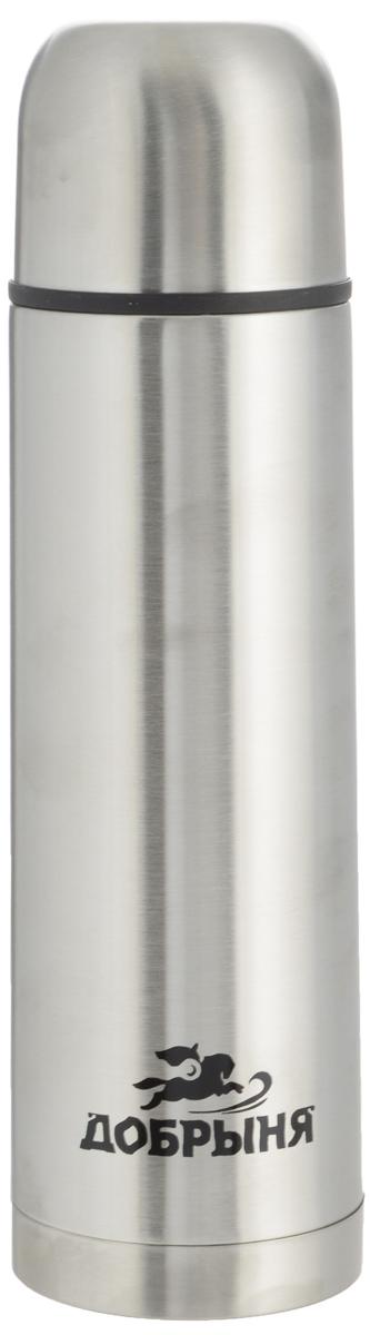 Термос Добрыня, 0,5 л. DO - 1801DO - 1801Дорожный термос Добрыня выполнен из нержавеющей стали с матовой полировкой. Внутренняя колба выполнена из высококачественной нержавеющей стали. Термос имеет вакуумную прослойку между внутренней колбой и внешней стенкой. Специальная термоизоляционная прокладка удерживает тепло. Термос снабжен плотно прилегающей закручивающейся пластиковой пробкой с нажимным клапаном. Для того чтобы налить содержимое термоса нет необходимости откручивать пробку. Достаточно надавить на клапан, расположенный в центре. Легкий и удобный, термос Добрыня станет незаменимым спутником в ваших поездках. Размер термоса (с учетом крышки): 7 х 7 х 24 см. Диаметр крышки (по верхнему краю): 6,5 см.