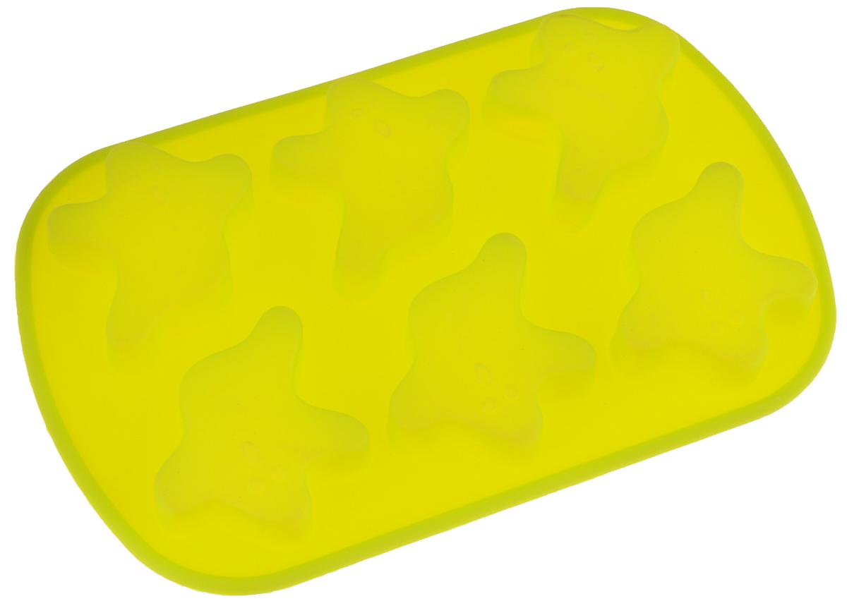 Форма для выпечки Mayer & Boch, силиконовая, цвет: салатовый, 6 ячеек, 24 х 16 х 2 см12567_салатовыйФорма для выпечки Mayer & Boch изготовлена из силикона. С ее помощью можно делать выпечку в виде привидений. Силикон - материал, который выдерживает температуру от -40°С до +230°С. Изделия из силикона очень удобны в использовании: пища в них не пригорает и не прилипает к стенкам, форма легко моется. Приготовленное блюдо можно очень просто вытащить, просто перевернув форму, при этом внешний вид блюда не нарушится. Изделие обладает эластичными свойствами: складывается без изломов, восстанавливает свою первоначальную форму. Порадуйте своих родных и близких любимой выпечкой в необычном исполнении. Подходит для приготовления в микроволновой печи и духовом шкафу при нагревании до +230°С; для замораживания до -40°. Можно мыть в посудомоечной машине. Размер одной ячейки: 7 х 6,4 х 1,5 см.