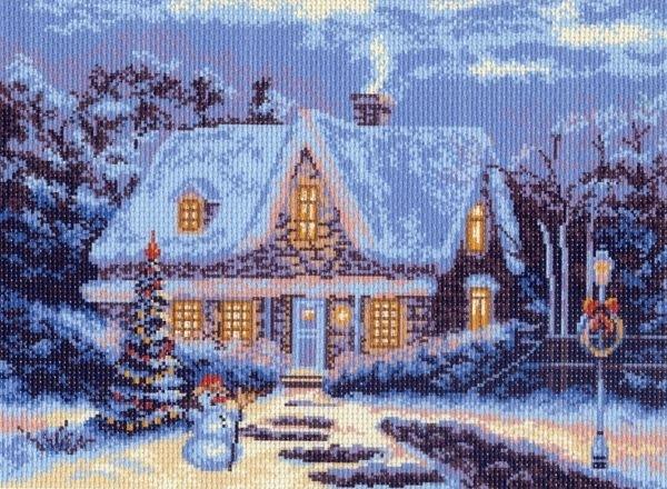 Канва с рисунком для вышивания Матренин Посад Зимняя сказка, 29 х 40 см551042Канва с рисунком Матренин Посад Зимняя сказка, изготовленная из хлопка, поможет вам создать свой личный шедевр - красивую вышитую картину. Вышивка выполняется в технике несчетный крест в 3 нити. На полях рисунка указана цветовая палитра. Вышивание отвлечет вас от повседневных забот и превратится в увлекательное занятие! Работа, сделанная своими руками, создаст особый уют и атмосферу в доме и долгие годы будет радовать вас и ваших близких. Рекомендуемое количество цветов: 14. Размер готового рисунка: 29 х 40 см. Общий размер канвы: 37 х 49 см. Нитки в комплект не входят.