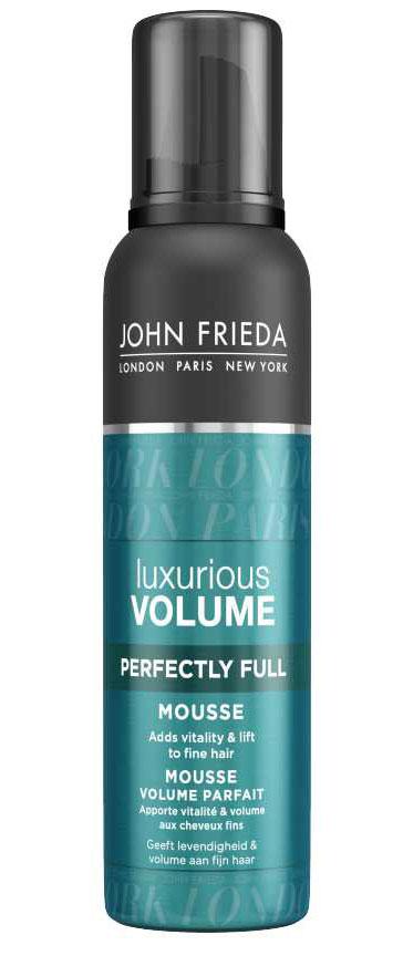 John Frieda Мусс Luxurious Volume для создания объема с термозащитным действием 200 млjf413430Добавляет жизненной силы и объема тонким волосам. Создает роскошный естественный объем. Vitality Complex с кофеином в составе ультра легкого мусса Luxurious Volume создает восхитительный объем надолго и сохраняет укладку, не склеивая волосы.