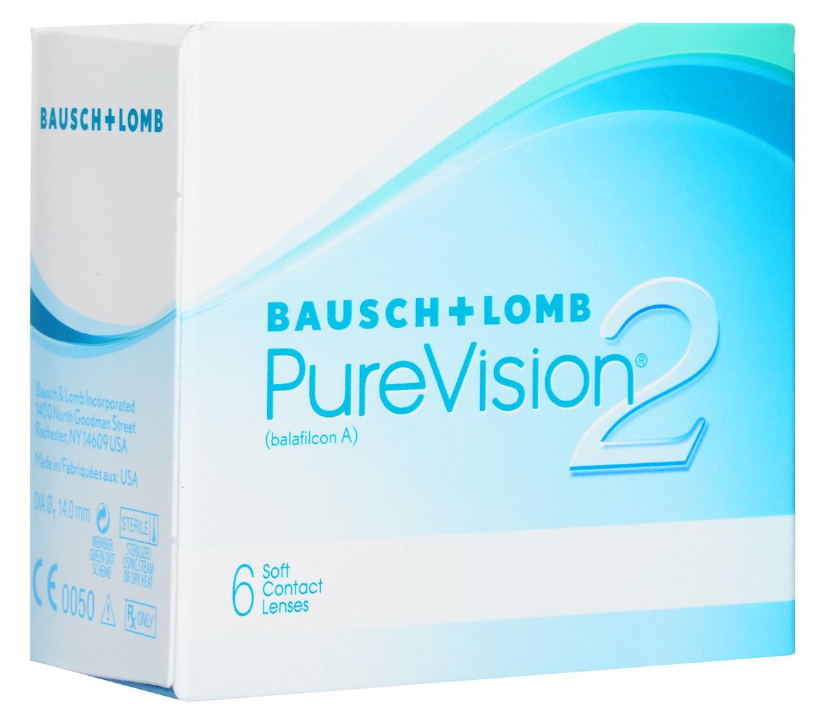 Bausch + Lomb контактные линзы Pure Vision 2 (6шт / 8.6 / -2.25)38266Pure Vision 2 - асферические контактные линзы. Новейшая контактная линза Pure Vision 2 HD с высокой оптической четкостью от всемирно известного производителя Bausch + Lomb. Эти линзы создавались, чтобы производить коррекцию сферической аберрации, что позволит добиться великолепной четкости зрения. Сферическая аберрация может стать причиной понижения остроты зрения, особенно в условии плохой освещенности, что может привести к ухудшению зрения и засвету. Так же, используя оптику High Definition, вы обретете четкое и хорошее зрение, особенно в условии плохой видимости. Данная линза - наиболее тонкая, представленная в настоящее время на рынке. Она имеет тончайший закругленный край, что дает возможность абсолютно не ощущать их при ношении. Комфортное ношение обеспечивается при помощи технологии ComfortMoist. Представленные линзы упаковывают в блистер с уникальным раствором, который хорошо увлажняет линзу, обеспечивая максимально возможное комфортное ношение. Замена через 1 месяц.