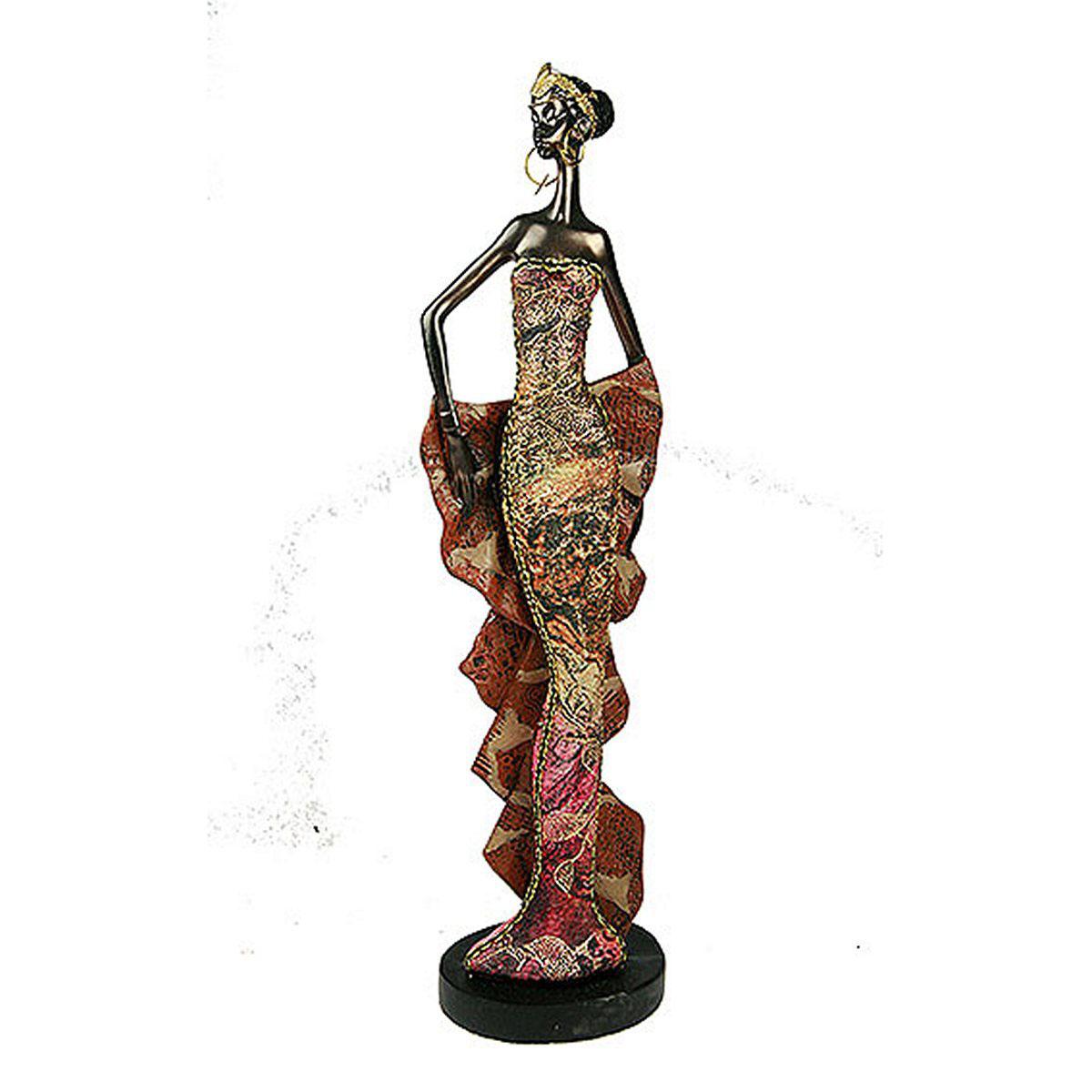 Статуэтка Русские Подарки Африканка, 7 х 9 х 33 см20612