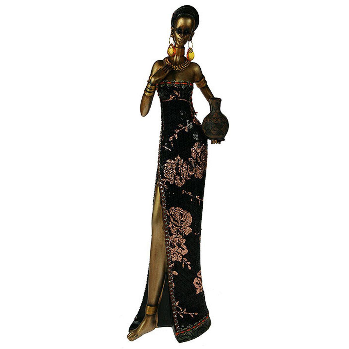 Статуэтка Русские Подарки Африканка, 14 х 8 х 43 см. 2612626126Статуэтка Русские Подарки Африканка, изготовленная из полистоуна, имеет изысканный внешний вид. Изделие станет прекрасным украшением интерьера гостиной, офиса или дома. Вы можете поставить статуэтку в любое место, где она будет удачно смотреться и радовать глаз. Правила ухода: регулярно вытирать пыль сухой, мягкой тканью.
