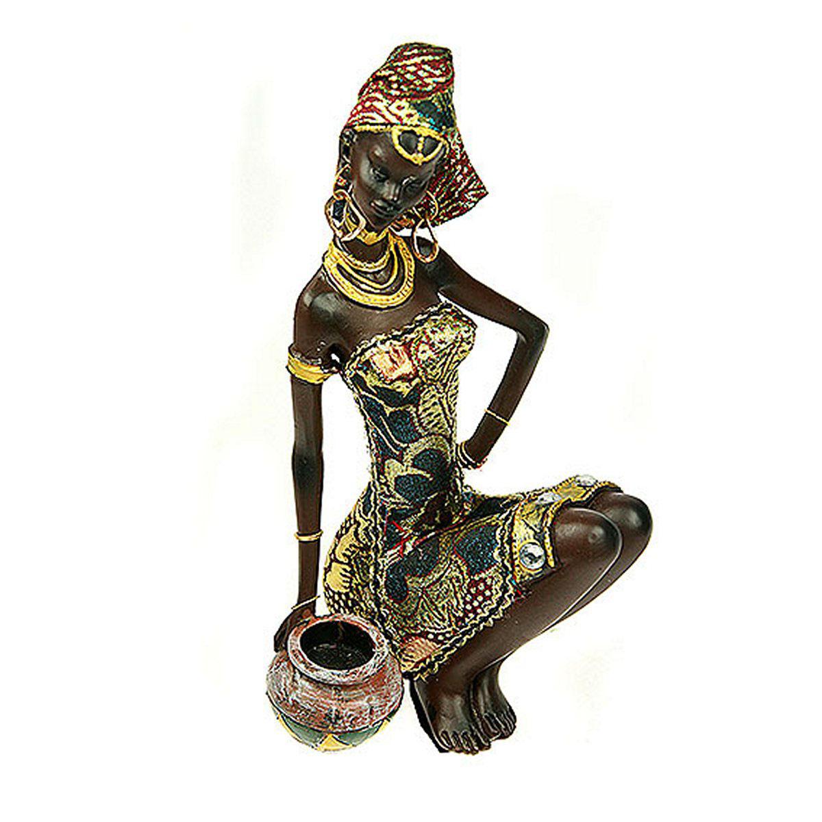 Статуэтка Русские Подарки Африканка, 14 х 13 х 23 см26147